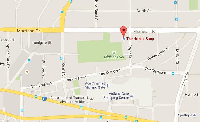 Hondashop Map