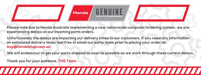Honda Genuine Parts Banner
