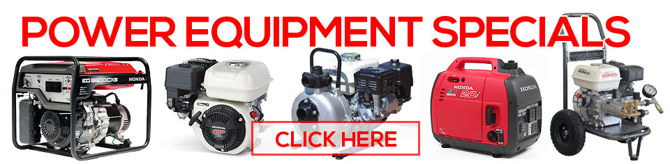 The Honda Shop Power Equipment Specials