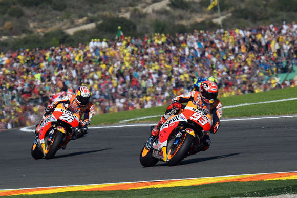 Marquez and Pedrosa Valencia 2015