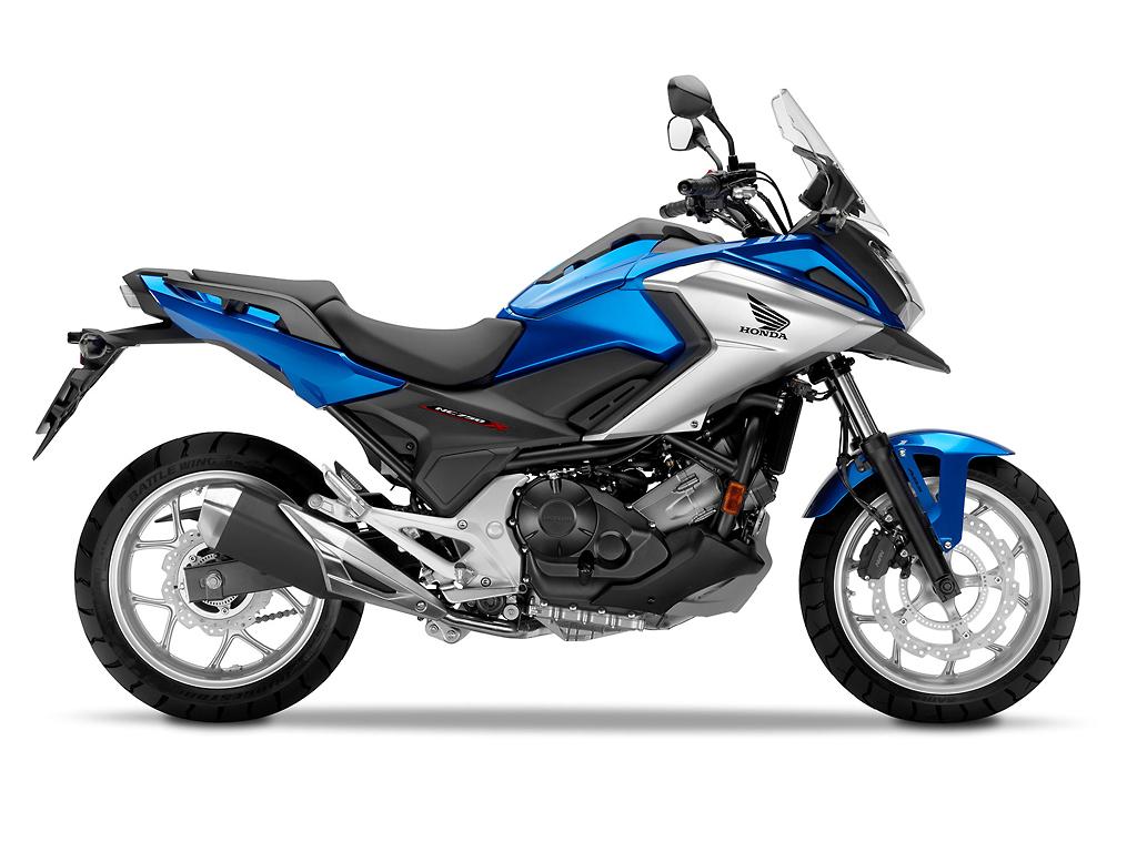 Honda NC750X Blue Side Shot