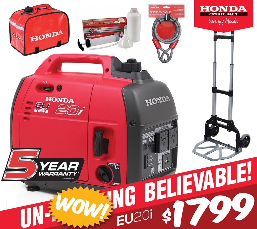 Honda eu20i generator essentials kit the honda shop for Honda financial services customer service number
