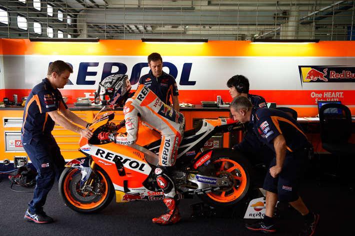 Marquez testing