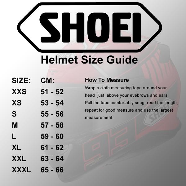 Shoei Size Guide