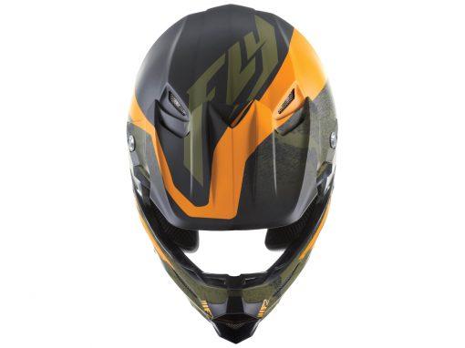 fly-helmets-f2carbon-pure-mattblk orange camo-top