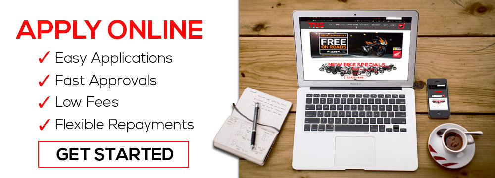 Apply for finance online banner