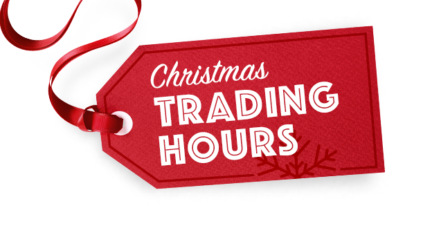 Christmas and New Years Trading Hours 2016