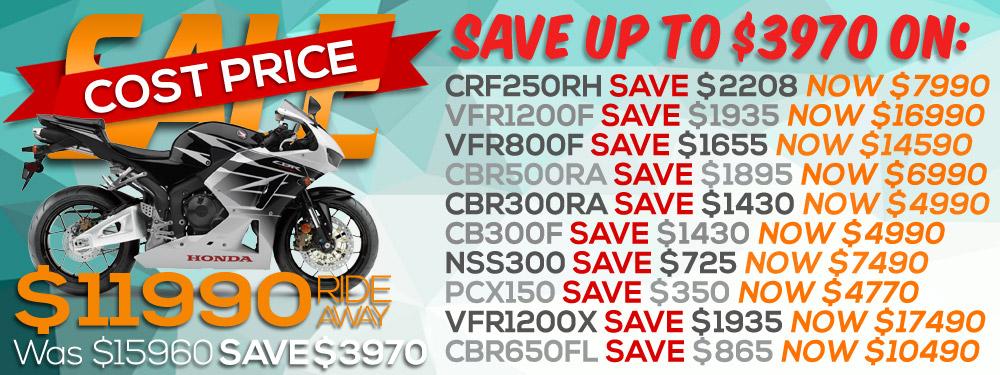 Honda Cost Price Sale