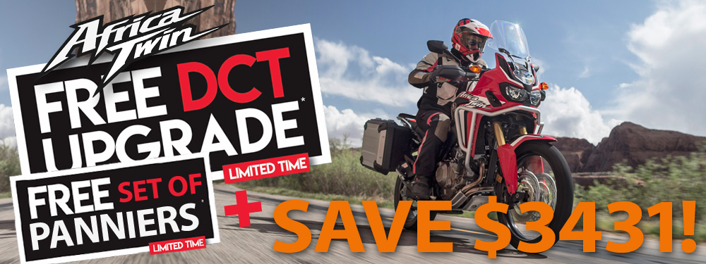Africa Twin Free DCT Offer