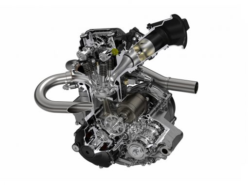 Honda CRF250R 2018 engine cutaway