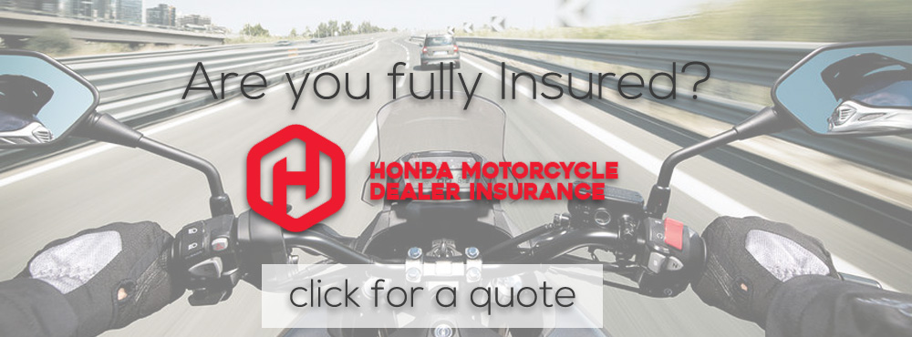 Honda Motorcycle Insurance Now Available