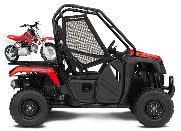 Honda Pioneer and CRF50F Combo