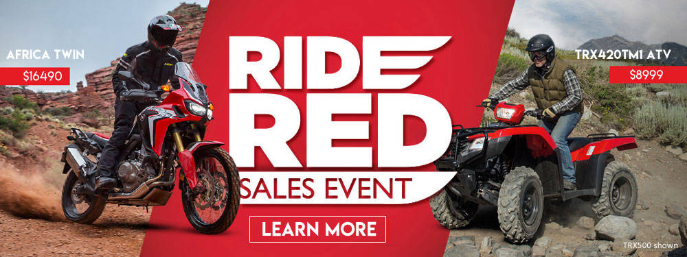 Ride Red Honda Sales Event
