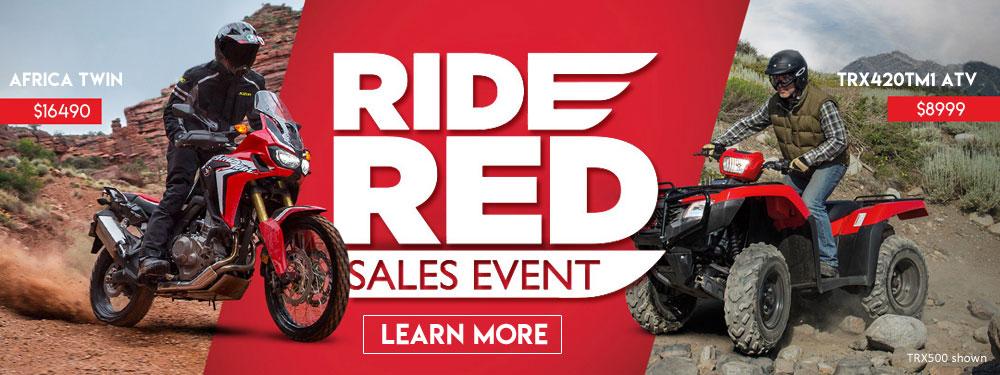 Ride Red Honda Sales Event