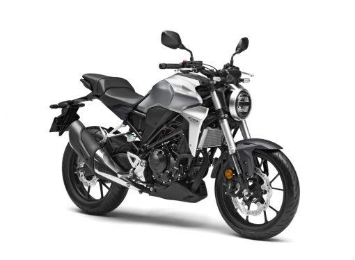 Honda CB300R Matte Axis Grey Metallic front angle