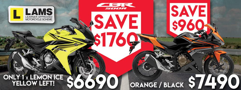 Honda CBR500R Banner