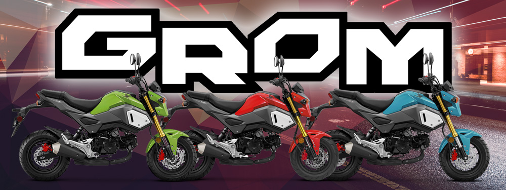 2019 Honda Grom Colours Banner
