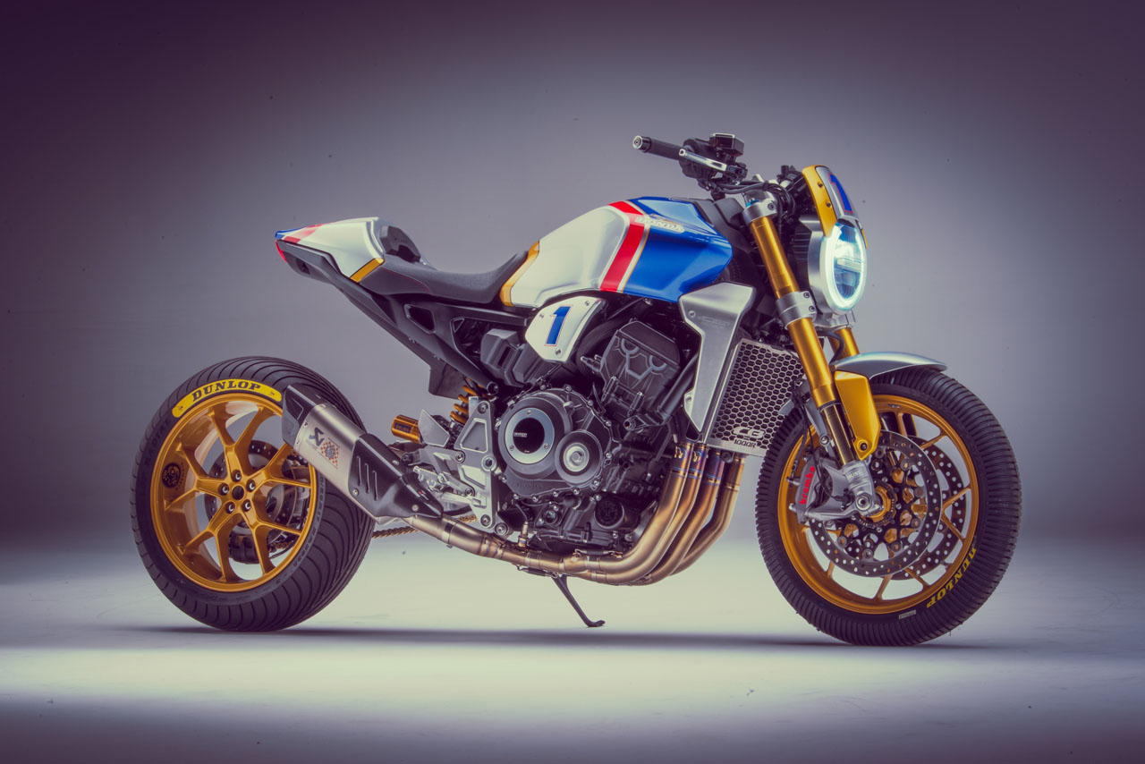 Mick Doohan Rides Custom CB1000R at Glemseck