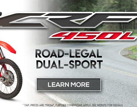 Honda CRF450L Pre-Order Bonus Offer