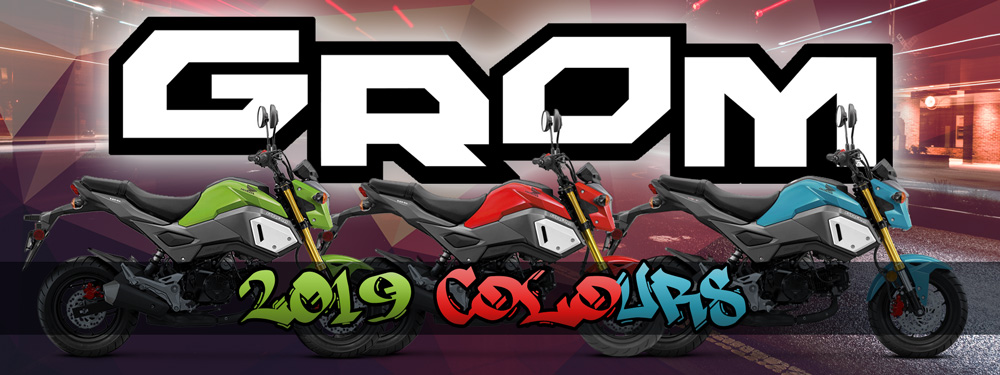 Honda Grom New Colour Range Banner
