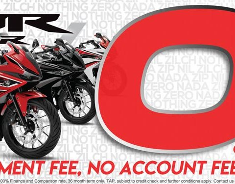 Zero Percent Finance on New Honda CBR500RA