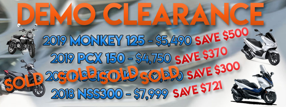 Scooter Demo Clearance Banner