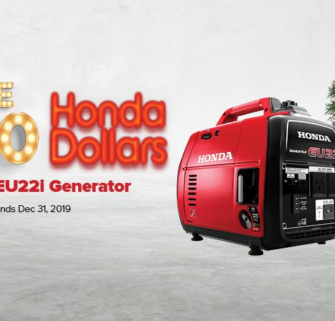 Huge Honda EU22i Offers with $250 Honda Dollars Off