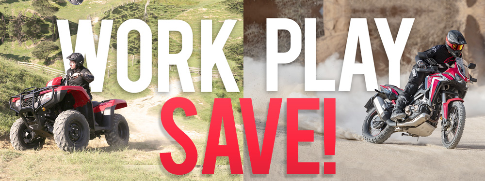 Work Play SAVE Sale Banner