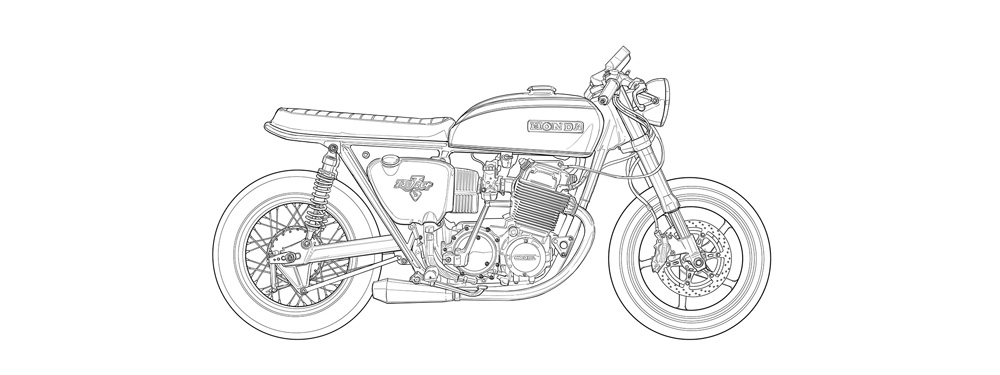 Motorcycle Colouring Pages