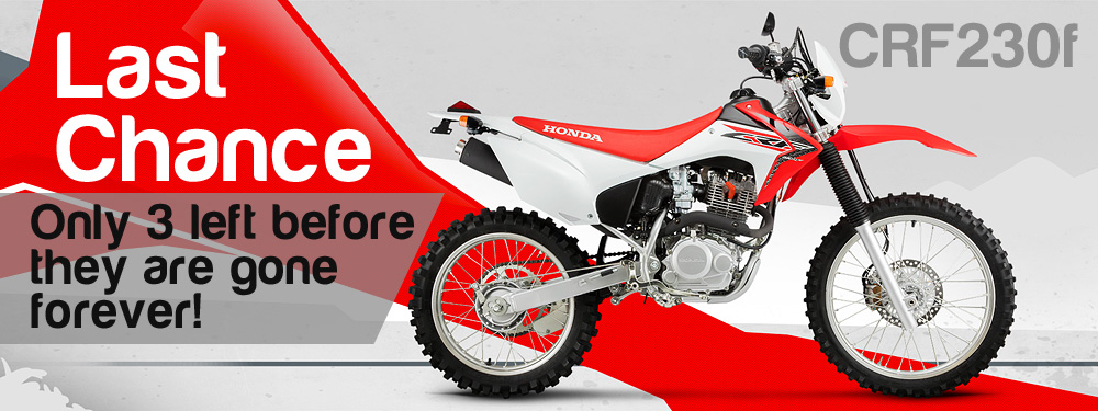 Honda CRF230F Now Discontinued