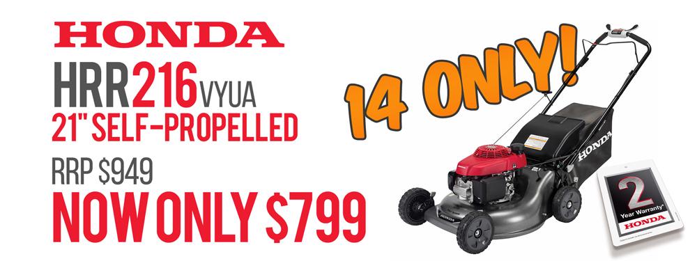"Honda HRR216VYUA 21"" Self Propelled"