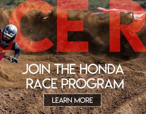 Honda Race Red Program Banner