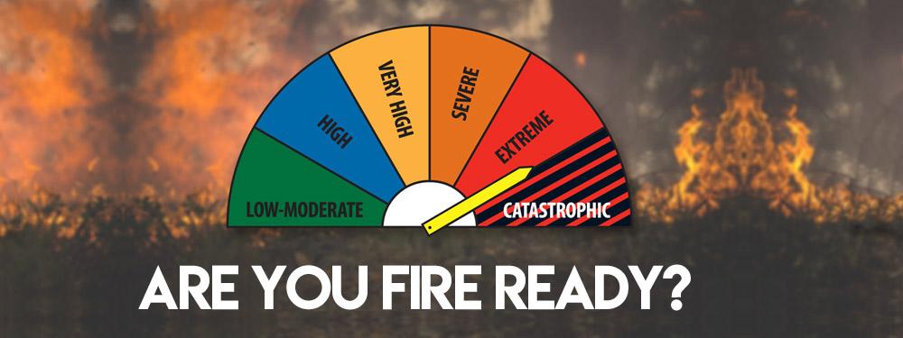 Bush fire season fire fighter pumps Perth